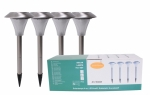 Solarlampe 4-er Set LED/Weiss
